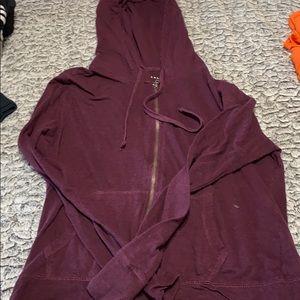 🌞Burgundy hooded zip up